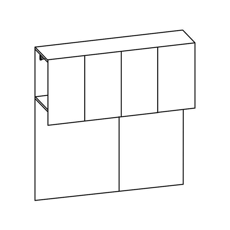 Vendita mobili online - Elemento armadio ponte 4 ante L ...