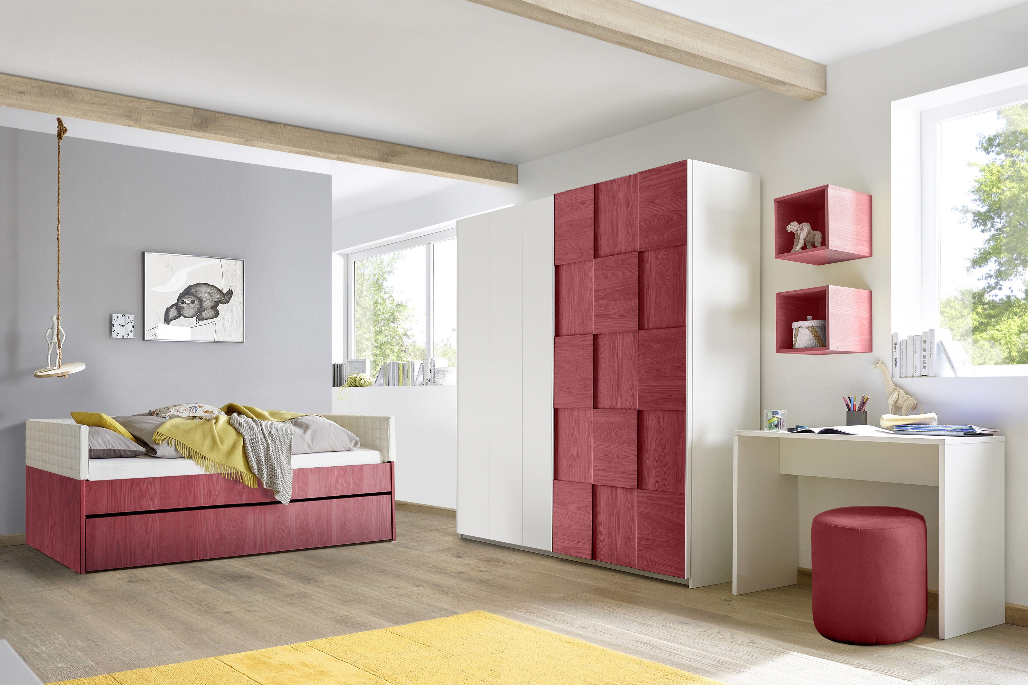 Divano Rosso E Grigio cameretta licia con divano letto