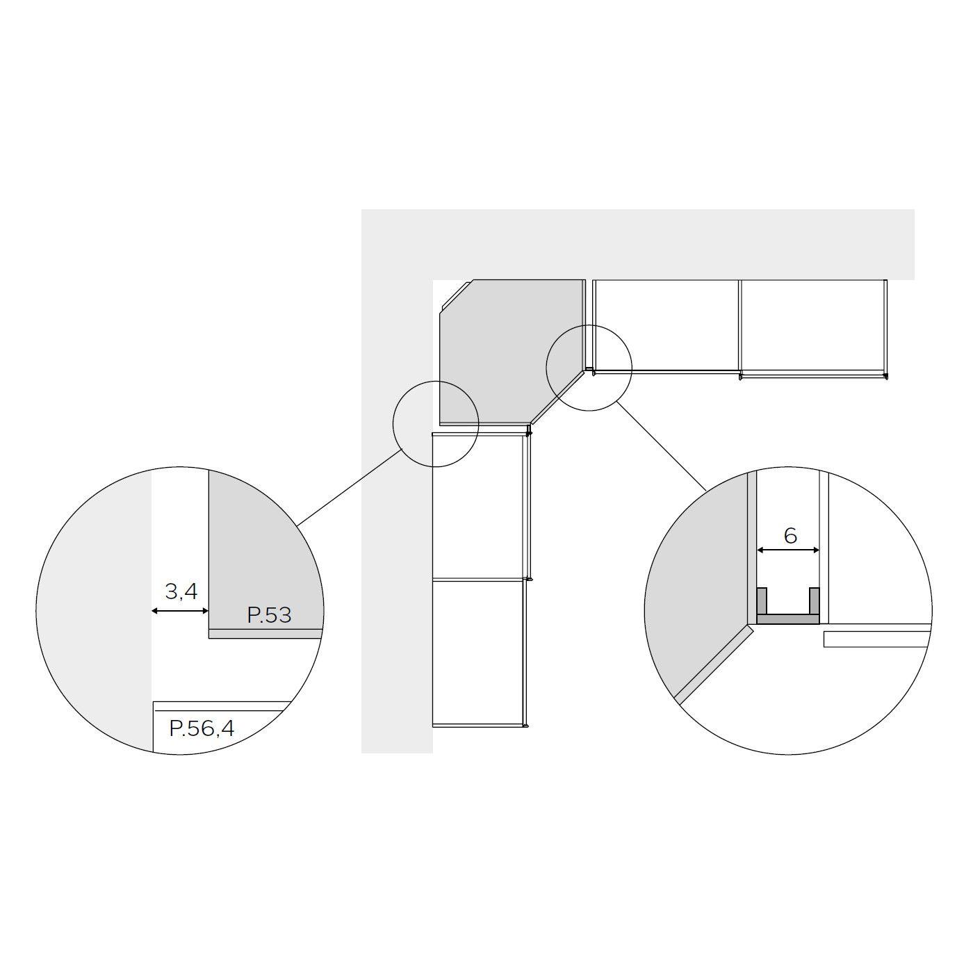 Vendita mobili online - Fascia di tamponamento per angolo ...