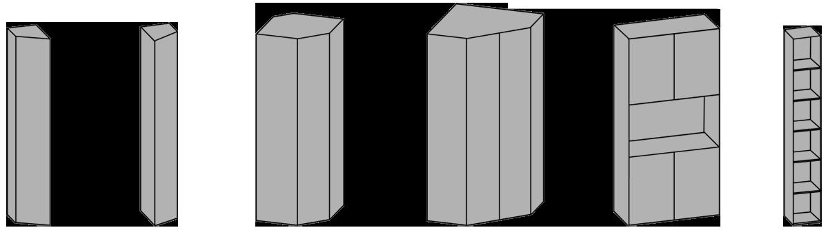 elementi speciali per composizioni armadio camera