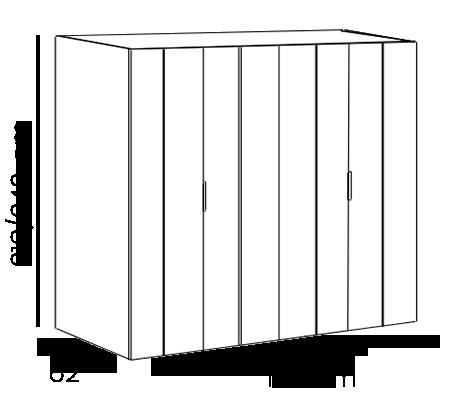 armadio 4 ante battente bianco opaco