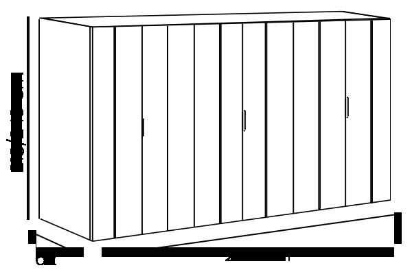 armadio battente bianco opaco con inserti