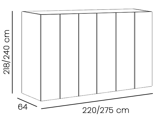armadio scorrevole bianco opaco con inserti