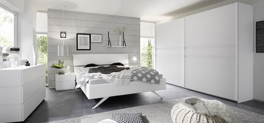 camera laccato bianco opaco