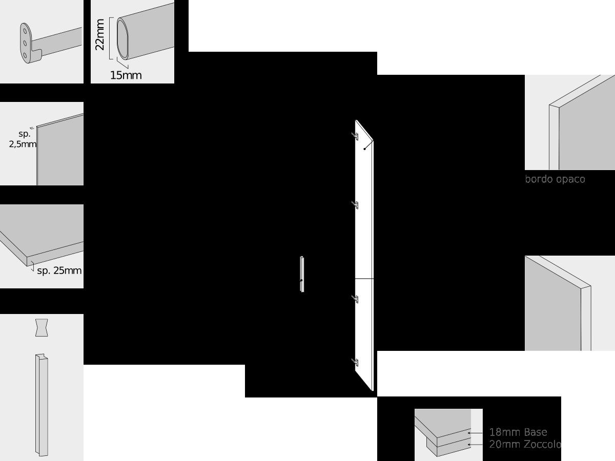 specifiche tecniche armadio battente camera