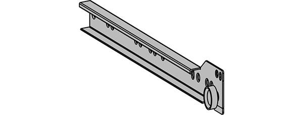guide scorrevoli con meccanismo a rotella