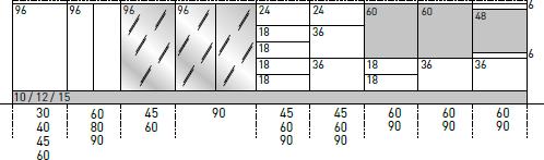 Basi a terra H.96 P.32/56,3 cm
