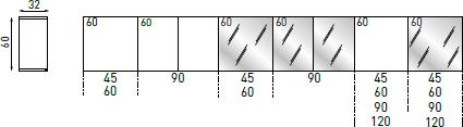 Pensili H.60 P.32 cm