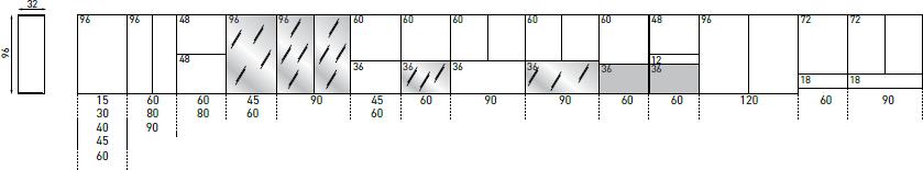 Pensili H.96 P.32 cm