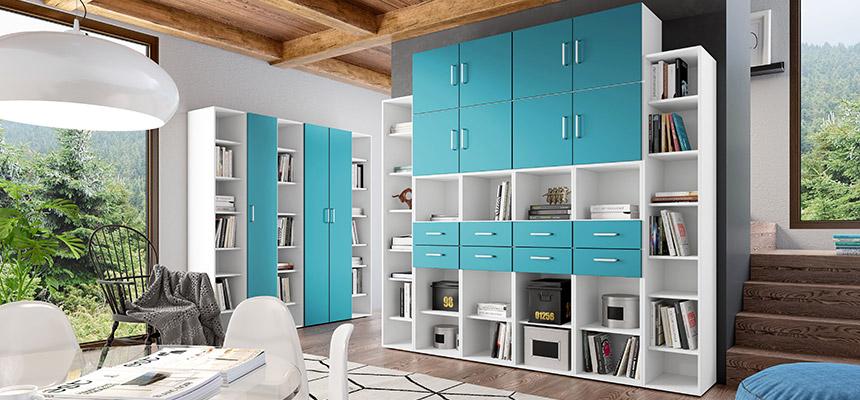 mobili multiuso colorati e moderni