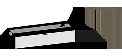 Base a terra per struttura zig zag